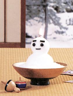 雪だるまローソク